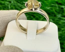 Natural Mali Garnate 925 Silver Ring