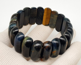 Natural Mix Color African Tiger Eye Bracelet 360.00 Carats