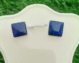 Natural Lapis lazuli 925 Silver Earring