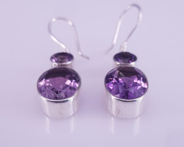 New Style Natural Amethyst Earrings