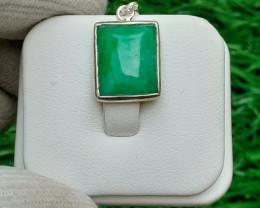 Natural Aquamarine 925 Silver Pendant
