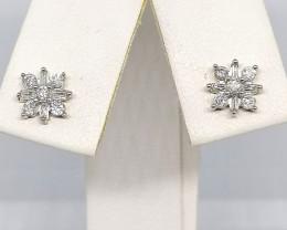 Certified Diamond Stud Earrings 0.25tcw. - 9kt. Gold