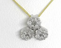 Certified Diamond Pendant 0.25tcw. - 9kt. Gold