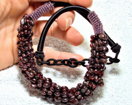 407.5 Tcw. Natural Garnet Necklace - Gorgeous