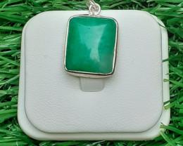Natural Amazonite 925 Silver Pendant