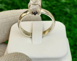 Natural Herkimer Daimond Quartz 925 silver Ring