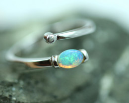 Opal Fire  Crystal set in Silver 925 Ring   Code CCC2577