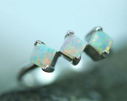 Opal Fire  Crystal set in Silver 925 Ring   Code CCC2588