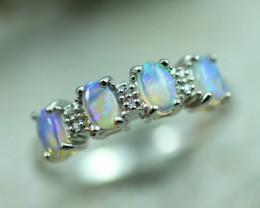Opal Fire  Crystal set in Silver 925 Ring   Code CCC2592