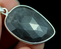 Faceted Sapphire  Sterling Silver pendant   code CCC 2214