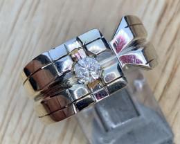 Natural Diamond  Ring TCW  0.23