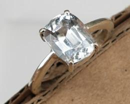 Hand made Natural Aquamarine Ring