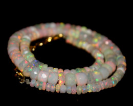 44 Crt Natural Ethiopian Welo Faceted Opal Necklace 206