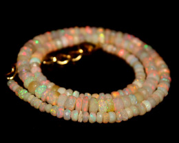 44 Crt Natural Ethiopian Welo Faceted Opal Necklace 208