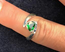 19 Ct Natural Green Transparent Tourmaline Gemstone Ring Us 6