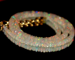 34 Crt Natural Ethiopian Welo Faceted Opal Necklace 210