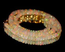 37 Crt Natural Ethiopian Welo Faceted Opal Necklace 204