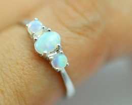 Opal Fire  Crystal set in Silver 925 Ring Size 7 Code CCC2617