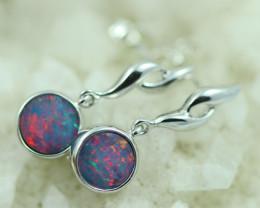 Opal Fire  Doublet set in Silver 925 Earrings   Code CCC2695