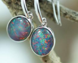 Opal Fire Triplet set in Silver 925 Earrings   Code CCC2701