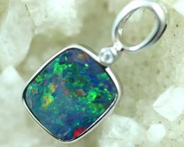 Opal Fire Doublet set in Silver 925 Pendant  Code CCC2710