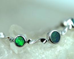 Fire Opal Doublet Bracelet set in Silver 925 Code CCC2724