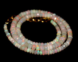 38 Crt Natural Ethiopian Welo Faceted Opal Necklace 211