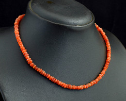 Genuine 79.00 Cts Carnelian Beads Necklace