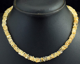 Genuine 153.00 Cts Citrine  Beads Necklace