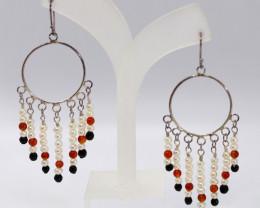 Silver Fresh Water Pearl Fashion earring JE05