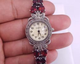 NAtural Rhodolite Garnet Watch
