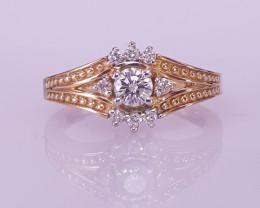 14K Gold Natuarl Diamond Ring