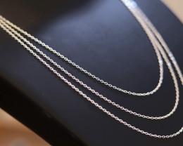 THREE 18 Inch, 45cm   mm  Fine   Curb Silver chain . CMT 210