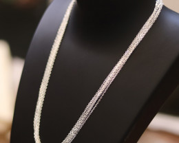 SIX 16 Inch, 40cm    Fine   Curb Silver chain . CMT 225