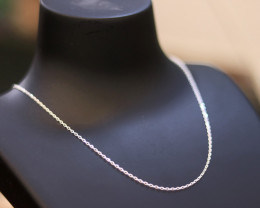 One  16 Inch, 40cm   mm  Fine   Curb Silver chain . CMT 238