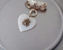 VINTAGE WWII 1940'S MOTHER OF PEARL SWEETHEART PIN