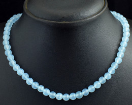 Genuine 144.00 Cts Chalcedony Beads Necklace