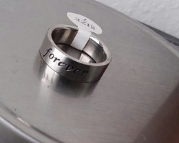 COMMITMENT RING STAINLESS STEEL BAND UNISEX SIZE 7