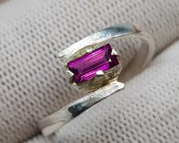 Natural Grape Garnet 10.15 Carats 925 Hand Made Silver Ring