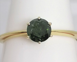 CLEARANCE - Certified Green Diamond Ring 0.60ct. - 9kt.  Gold
