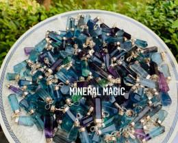 Multicolor Flourite pendants