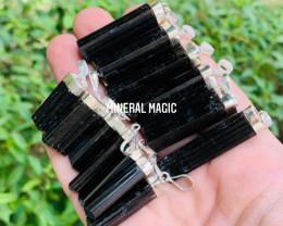 Premium  quality black tourmaline pendants