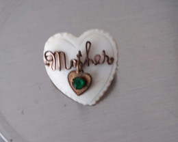 ANTIQUE WWII 1940'S SWEETHEART PIN MOTHER OF PEARL