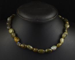 Genuine 232.00 Cts Labradorite  Beads Necklace