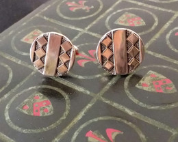 SWANK VINTAGE / ANTIQUE 1950'S CUFF LINKS GEOMETIC DESIGN