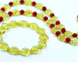 Beautiful Baltic Amber Necklace & Bracelet Set code CCC2946
