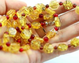 Beautiful Baltic Amber Necklace & Bracelet Set  code CCC2947