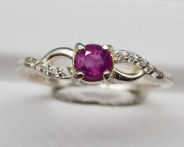 Natural Kashmir Sapphire 10.00 Carats 925 Silver Ring