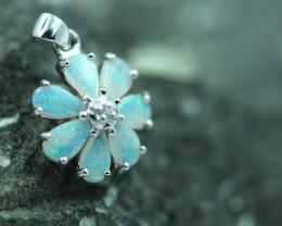 Cute Stylish Crystal Opal Pendant  CCC 2999