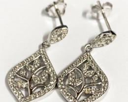 Modern Sterling Silver 925 Earring